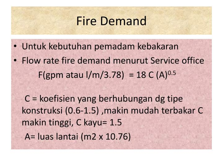 Fire Demand