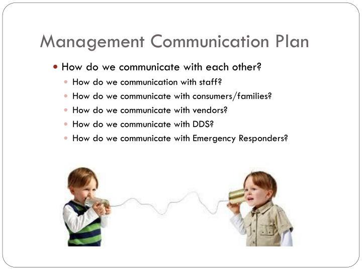 Management Communication Plan