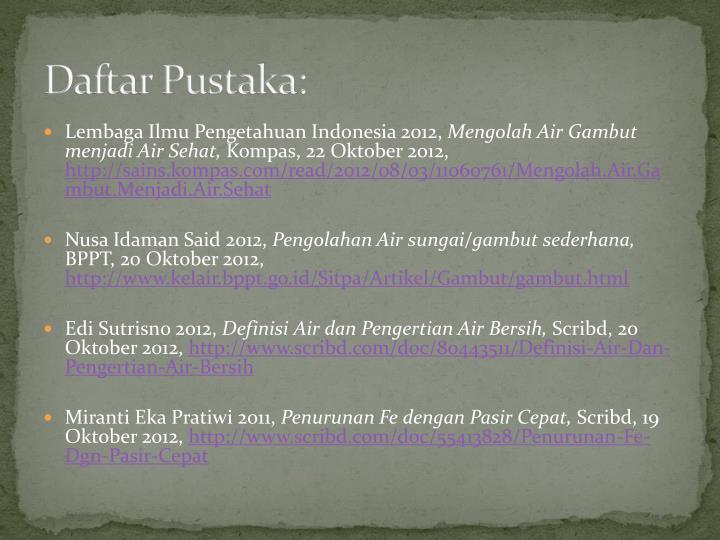 Daftar Pustaka: