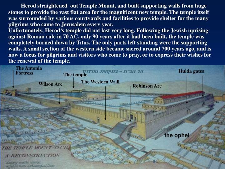 Herod straightened