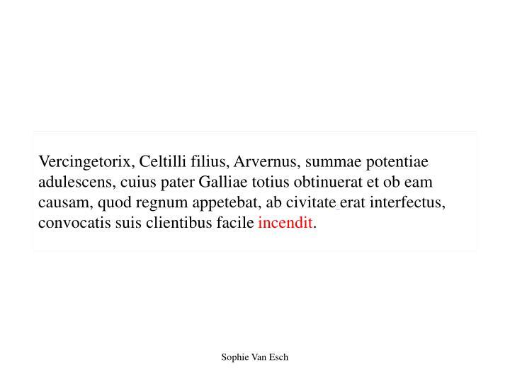 Vercingetorix, Celtilli filius, Arvernus, summae potentiae