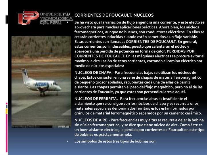 CORRIENTES DE FOUCAULT. NUCLEOS