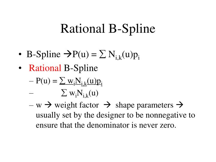 Rational B-Spline
