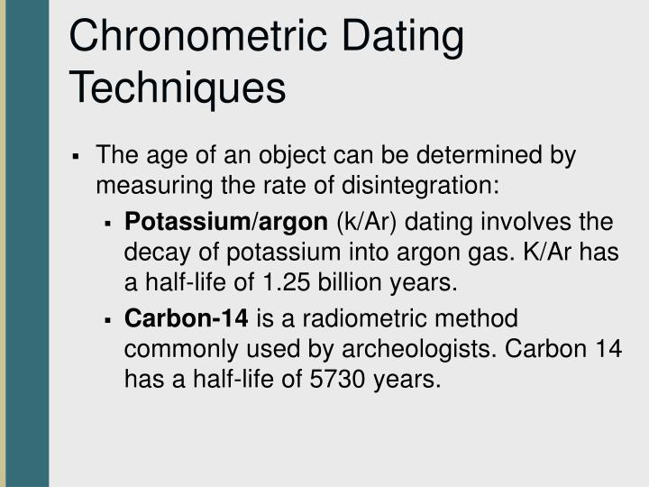 Chronometric Dating Techniques