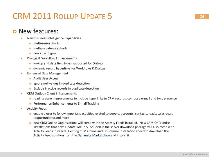 CRM 2011 Rollup Update 5