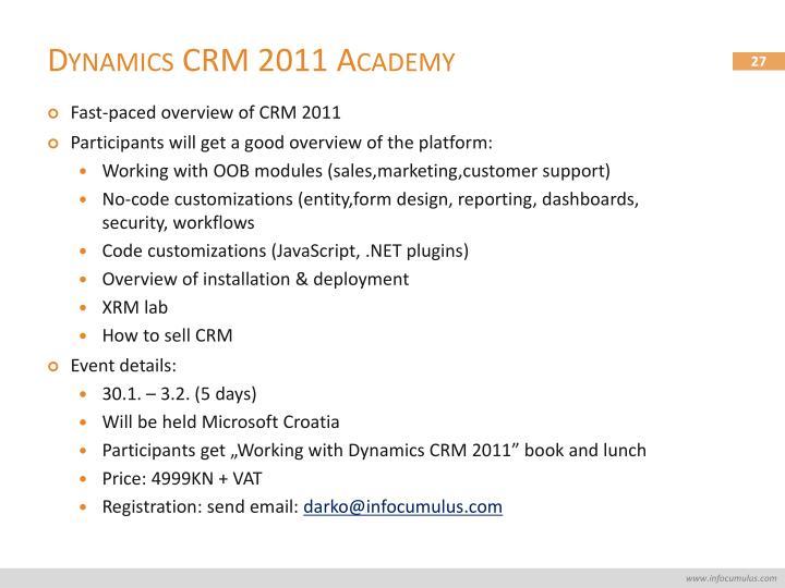 Dynamics CRM 2011 Academy