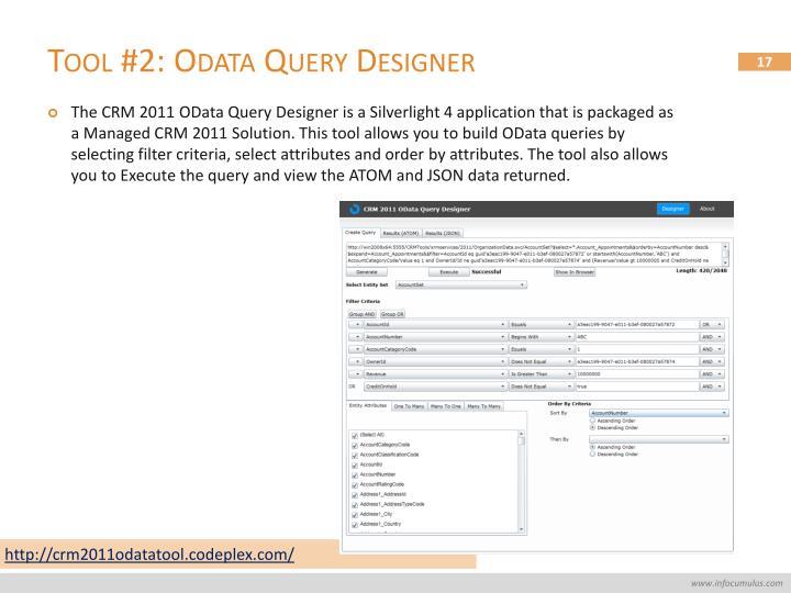 Tool #2: Odata Query Designer
