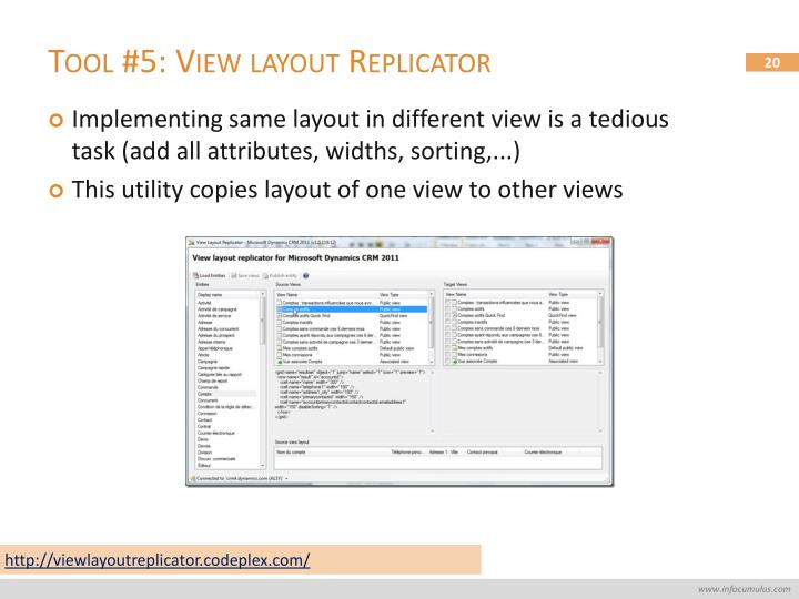 Tool #5: View layout Replicator
