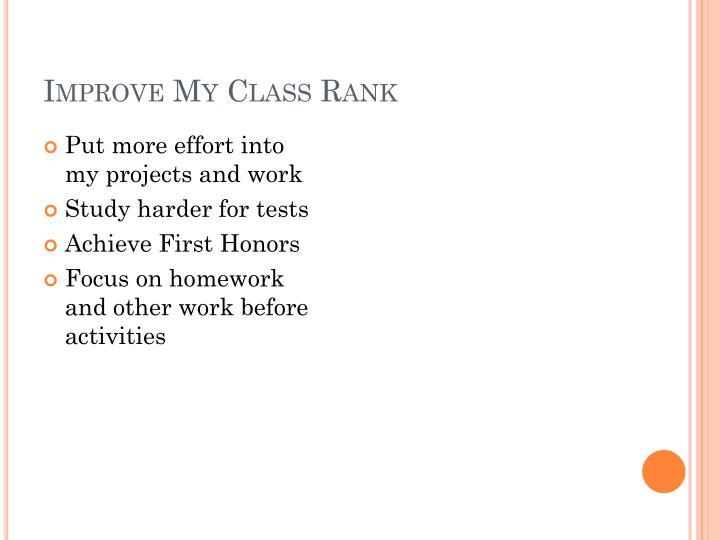 Improve My Class Rank
