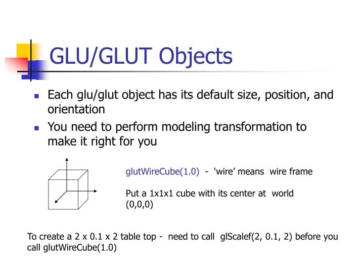 Glu glut objects