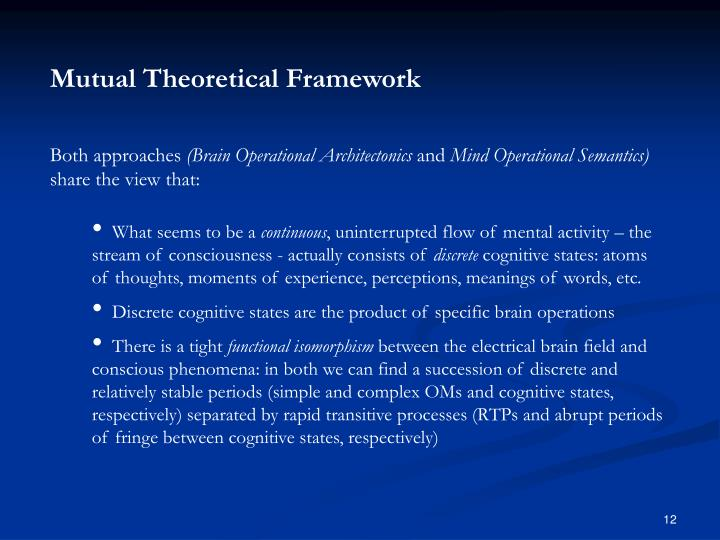 Mutual Theoretical Framework