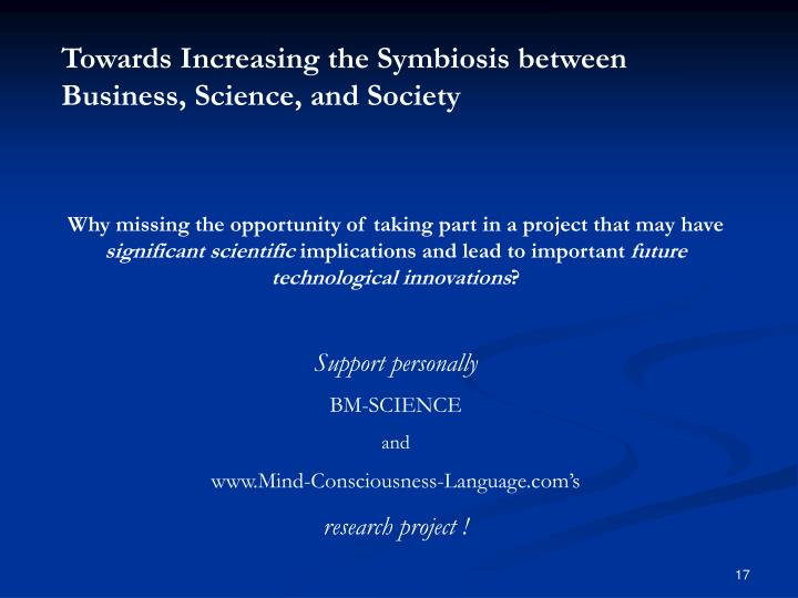 Towards Increasing the Symbiosis between Business, Science, and Society
