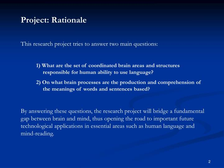 Project: Rationale