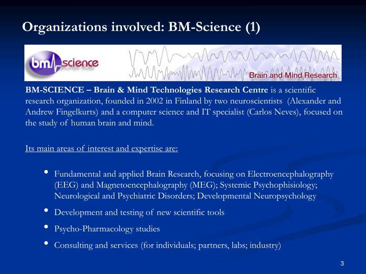 Organizations involved: BM-Science (1)