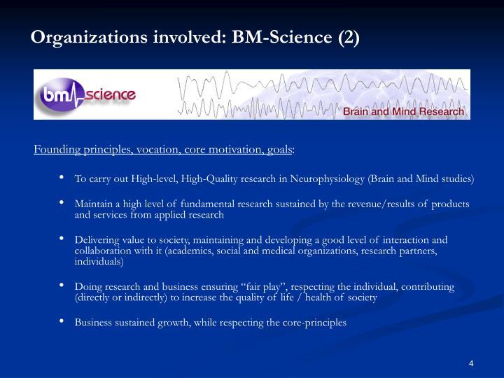 Organizations involved: BM-Science (2)