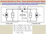 harmonic distortion in three phase systems czarnecki s model