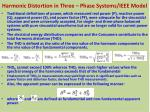 harmonic distortion in three phase systems ieee model