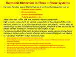 harmonic distortion in three phase systems