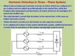 harmonic distortion in three phase systems7