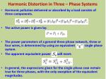 harmonic distortion in three phase systems9