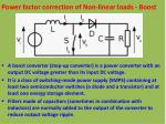 power factor correction of non linear loads boost