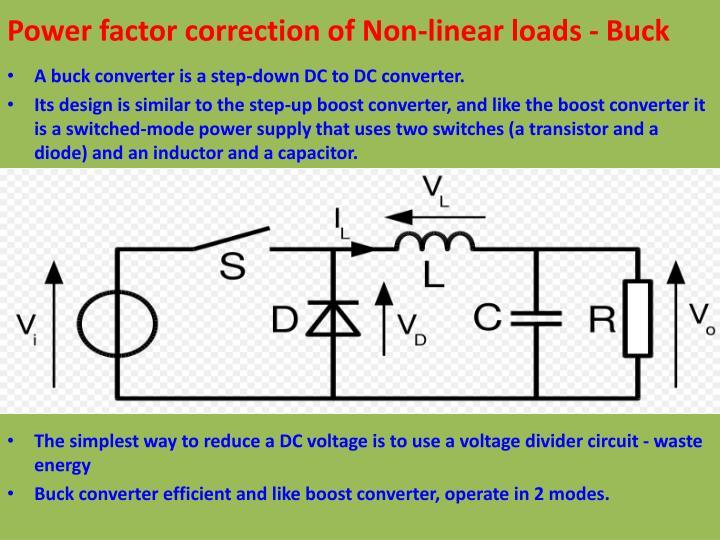 Power factor correction of Non-linear loads - Buck