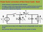 power factor correction of non linear loads buck