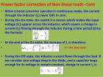 power factor correction of non linear loads cont