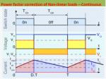 power factor correction of non linear loads continuous
