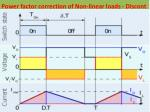 power factor correction of non linear loads discont
