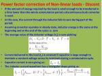 power factor correction of non linear loads discont4