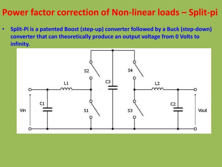 Power factor correction of Non-linear loads – Split-pi