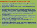 power factor correction of non linear loads