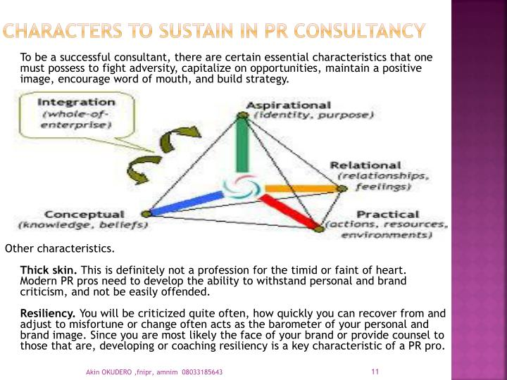 Characters to Sustain in PR CONSULTANCY