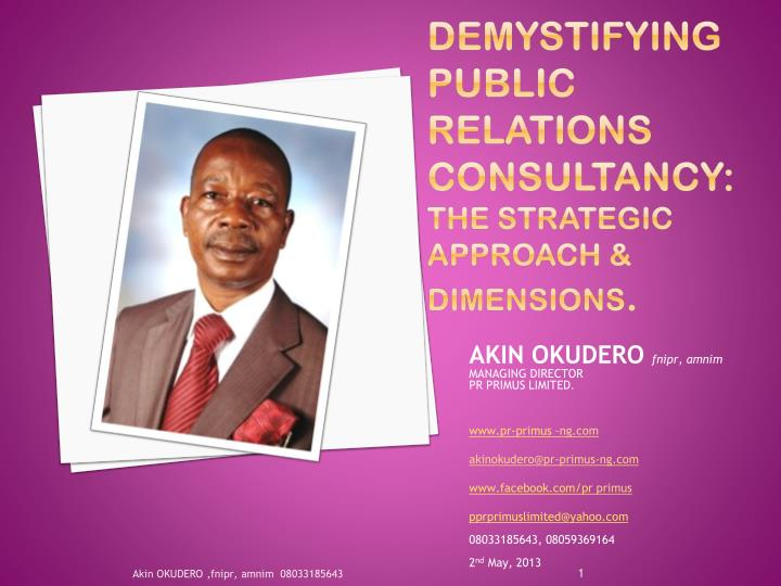 Demystifying public relations consultancy: