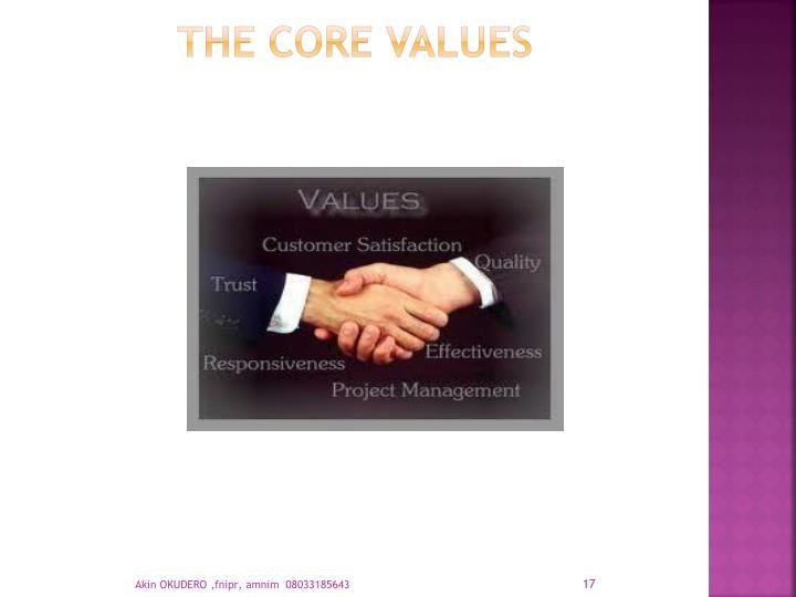 THE CORE VALUES