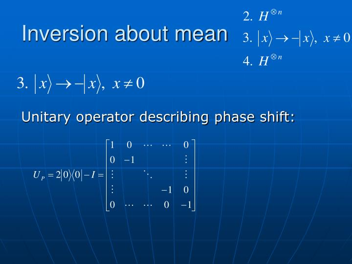 Inversion about mean