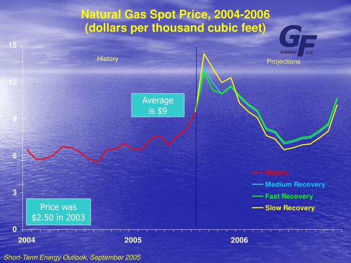 Natural Gas Spot Price, 2004-2006
