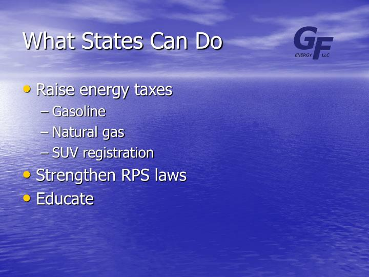 What States Can Do