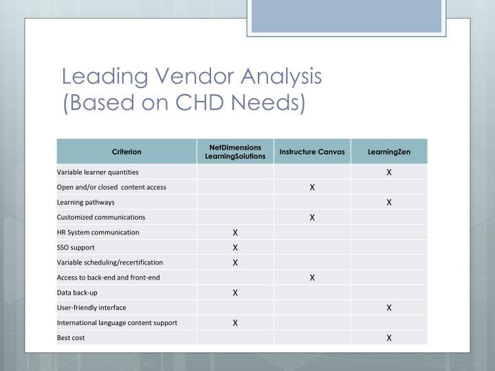Leading Vendor Analysis