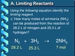 a limiting reactants3