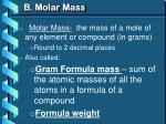 b molar mass