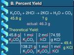 b percent yield2
