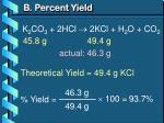 b percent yield3