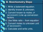 b stoichiometry steps