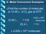 e molar conversion examples2