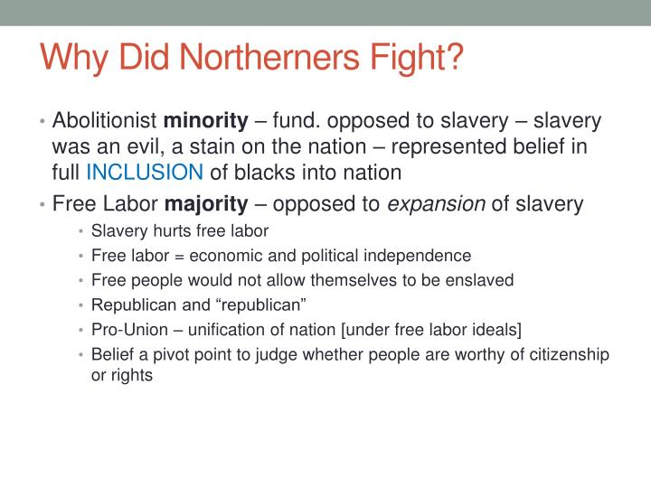 Why Did Northerners Fight?