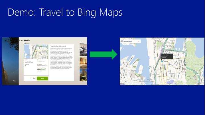 Demo: Travel to Bing Maps