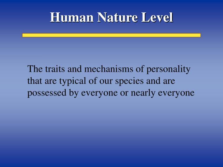 Human Nature Level