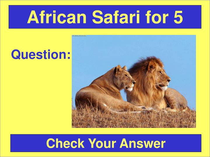 African Safari for 5